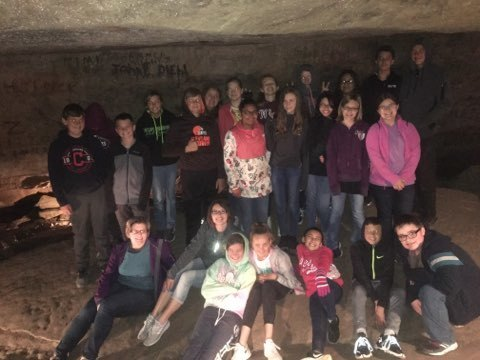5th - 8th Grades Go To Seneca Caverns